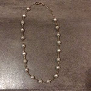 Jewelry - Pearl Faux Gold Necklace 18 Inches